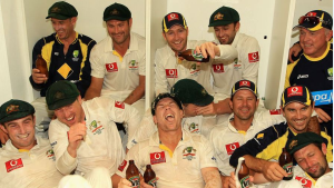 Australian team after winning in 2011-12